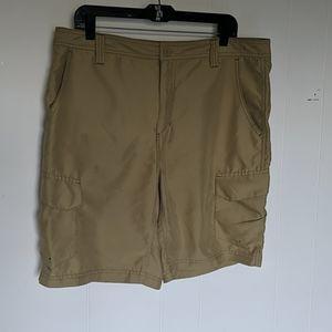 Magellan outdoors tan cargo shorts Size 36